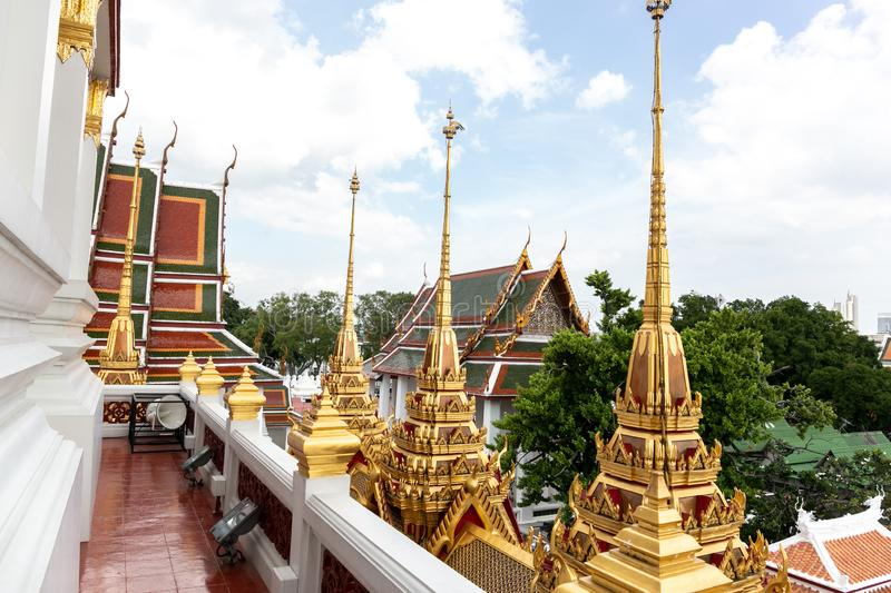 Temple, Loha Prasat - Wat Ratchanatda royalty free stock photos