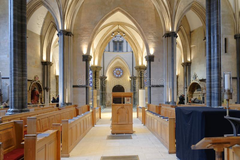 Temple, london, england: church interior, Temple Church, London royalty free stock images