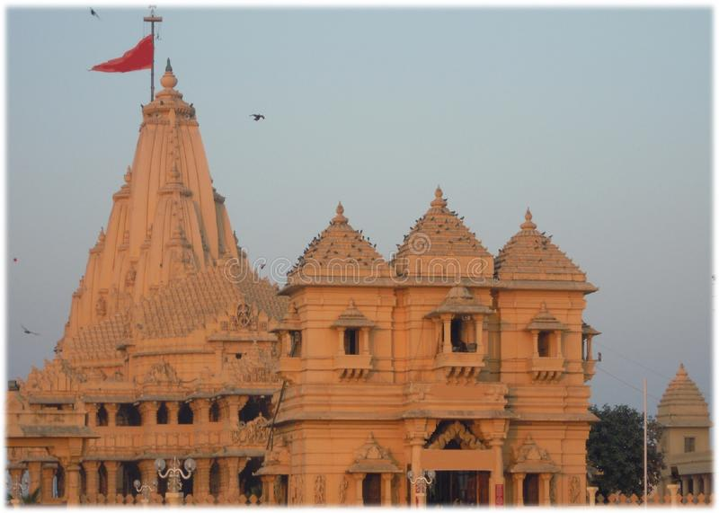 The temple of lord Shiva at Somnath. stock images