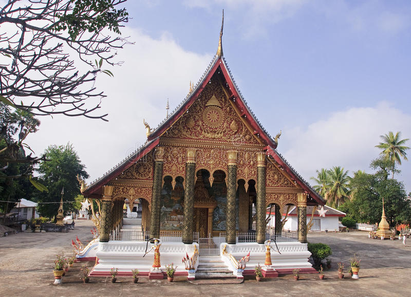 Temple,in Luang Prabang royalty free stock images