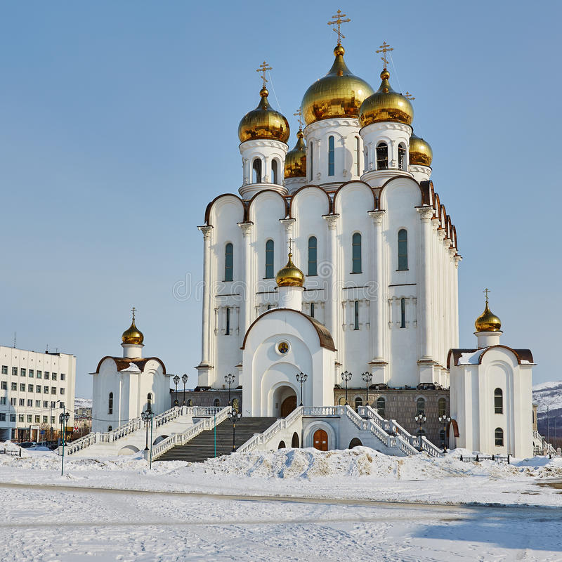 Download Temple in Magadan. Winter stock photo. Image of sacred - 63125208