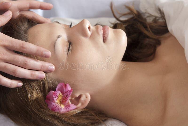 Temple Massage Stock Photos