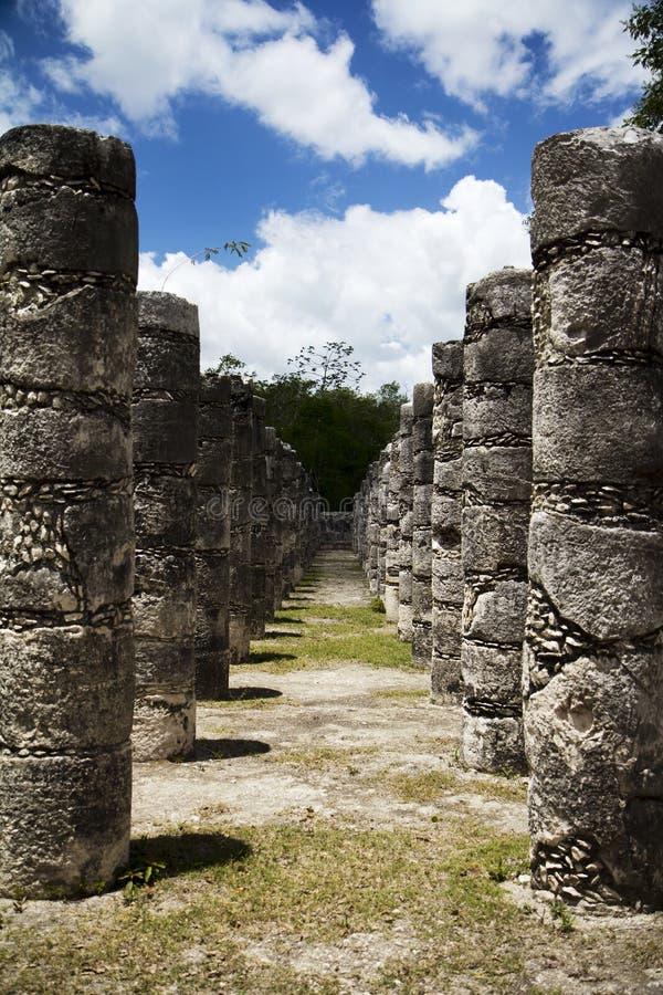Temple maya photo libre de droits