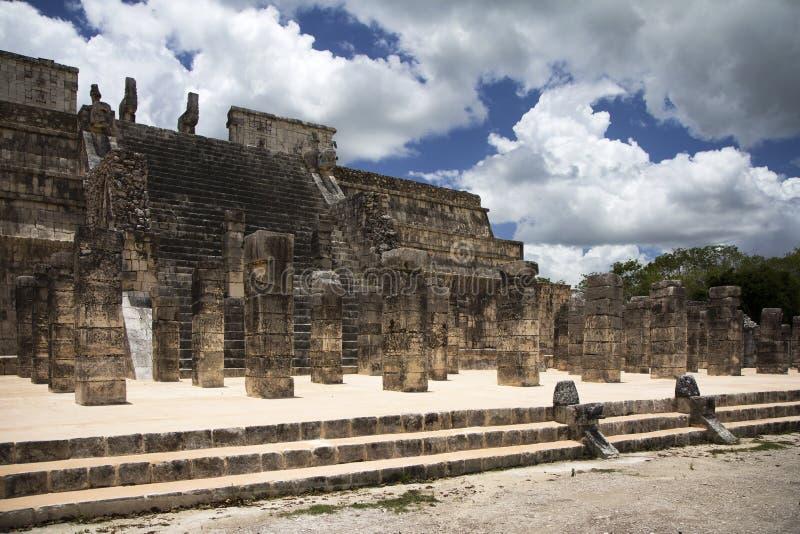 Temple in Mexico stock photos
