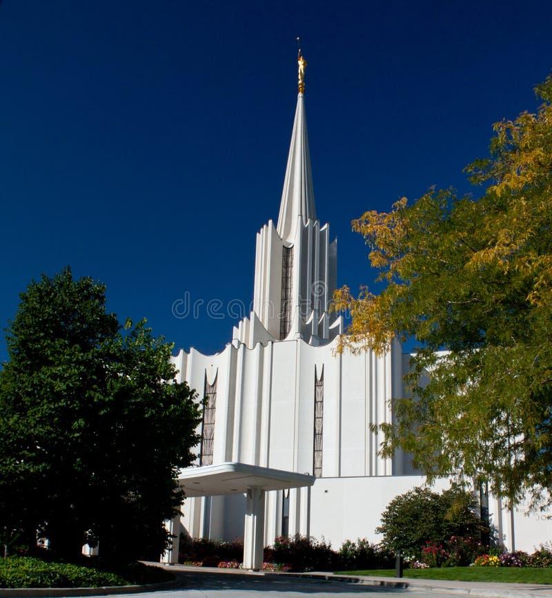 Temple mormon de fleuve Jourdain photo libre de droits