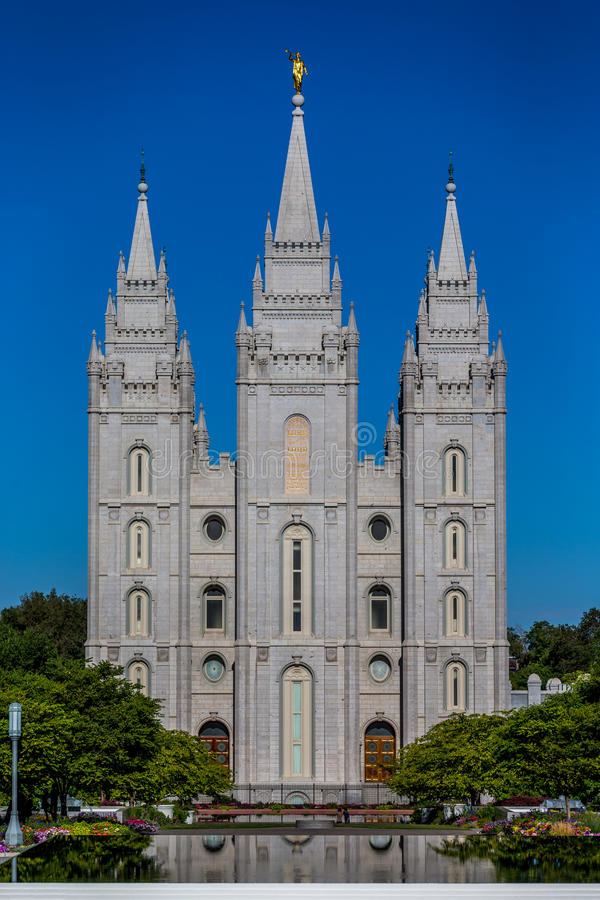 Temple mormon de LDS à Salt Lake City Utah photos stock
