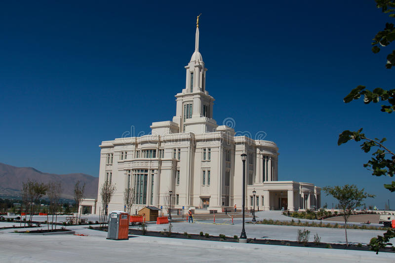 Temple mormon de Payson Utah photo stock