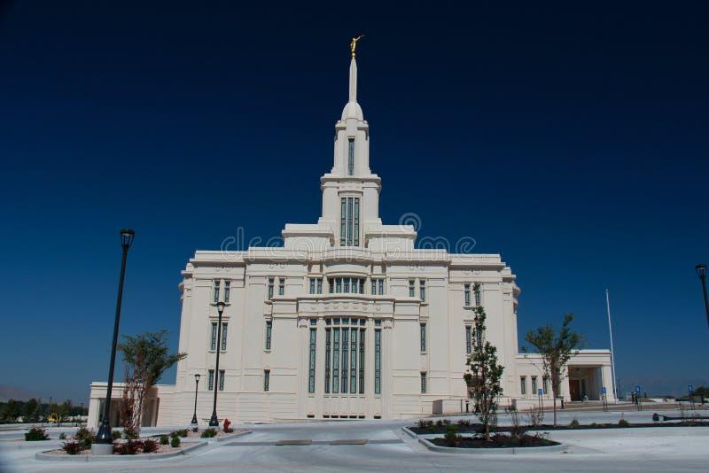 Temple mormon de Payson Utah photographie stock libre de droits
