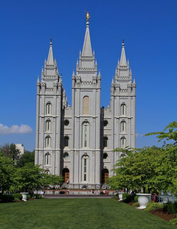 Temple mormon de Salt Lake City photographie stock libre de droits