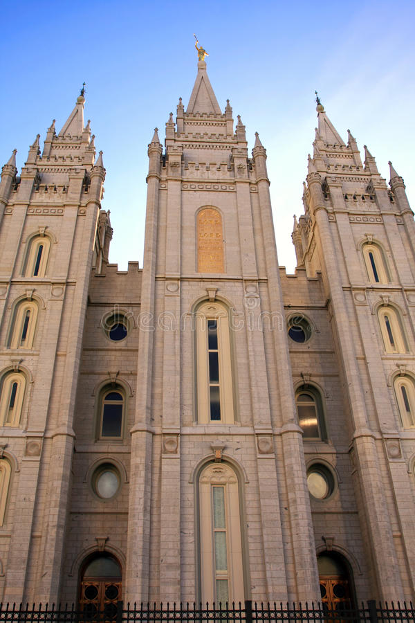 Temple mormon, Salt Lake City images stock