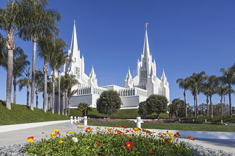Temple mormon - San Diego California Temple photographie stock libre de droits