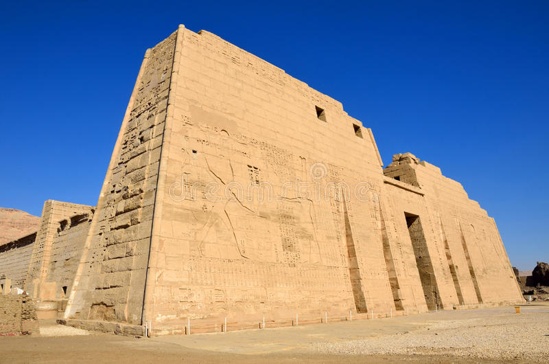 Temple mortuaire de Ramses III image stock
