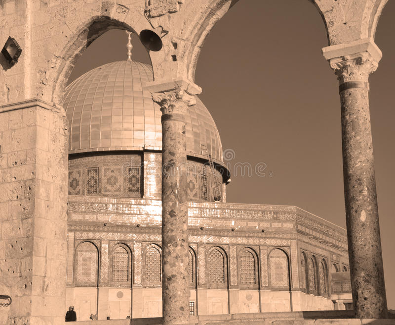 Temple Mount, abóbada fotografia de stock royalty free