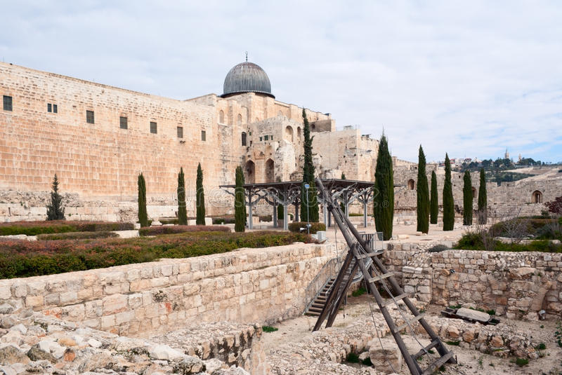 Temple Mount and Al Aqsa royalty free stock photography