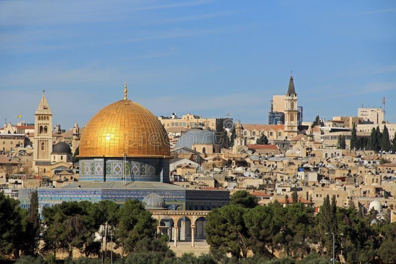 Temple Mount e a abóbada da rocha foto de stock royalty free