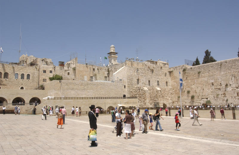 THE TEMPLE MOUNT IN JERUSALEM royalty free stock photography