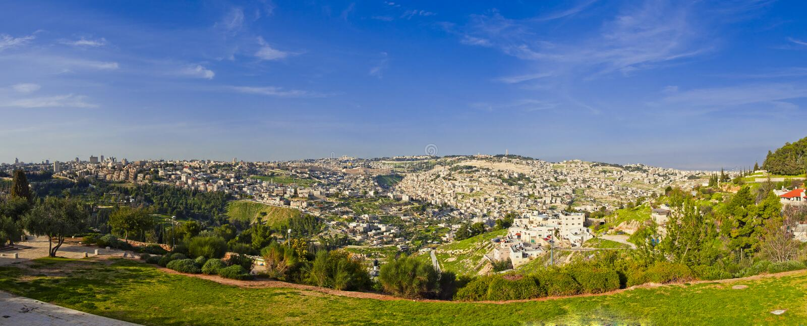The Temple Mount, in Jerusalem, Israel royalty free stock image