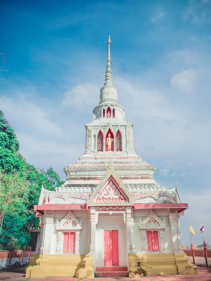 Temple on mountain in thailand royalty free stock image