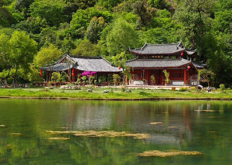 Download A Temple At Moutain Side Stock Photo - Image: 1421300