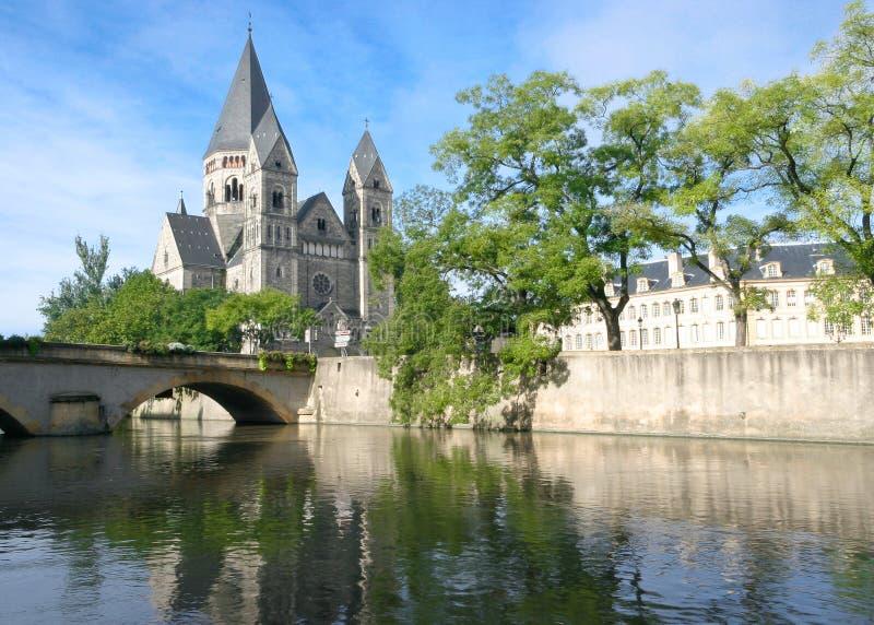 Temple Neuf Metz stock image