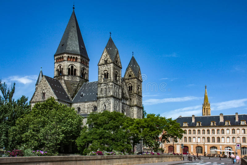 Temple Neuf at Metz stock images