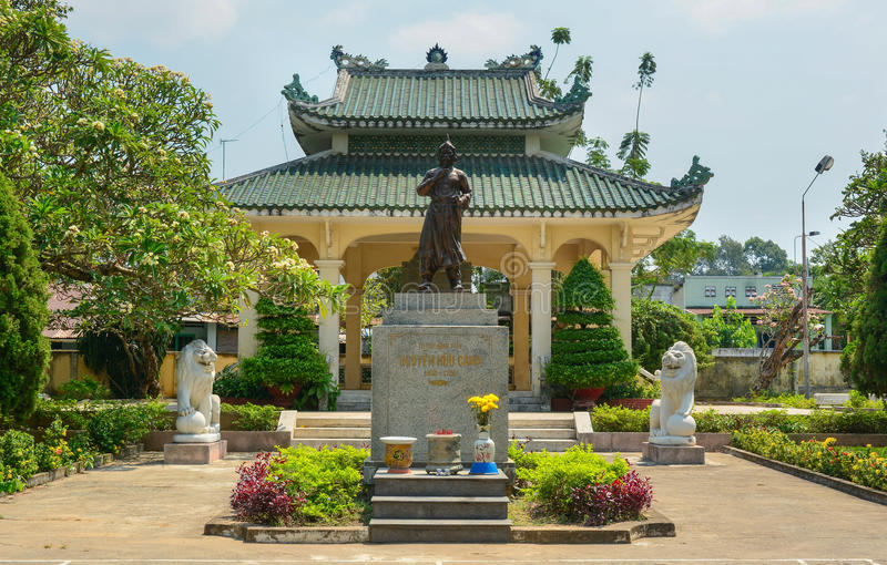 Temple of Nguyen Huu Canh in Bien Hoa, Nai. Bien Hoa, Vietnam - Apr 5, 2015. Temple of Nguyen Huu Canh, a hero in southern Vietnam stock photos