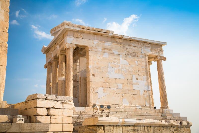 Temple of Nicky Ateros or Athena Nike royalty free stock photos