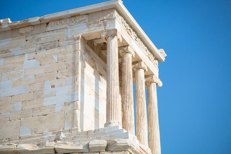 Temple of Nicky Ateros or Athena Nike royalty free stock photography