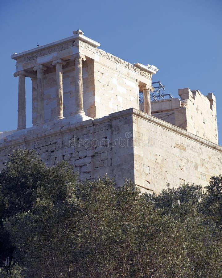 Temple nike d'Athéna, Acropole photo libre de droits
