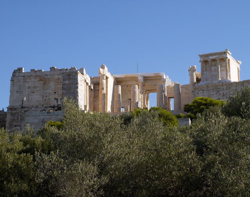 Temple nike d'Athéna, Acropole d'Athènes photo libre de droits