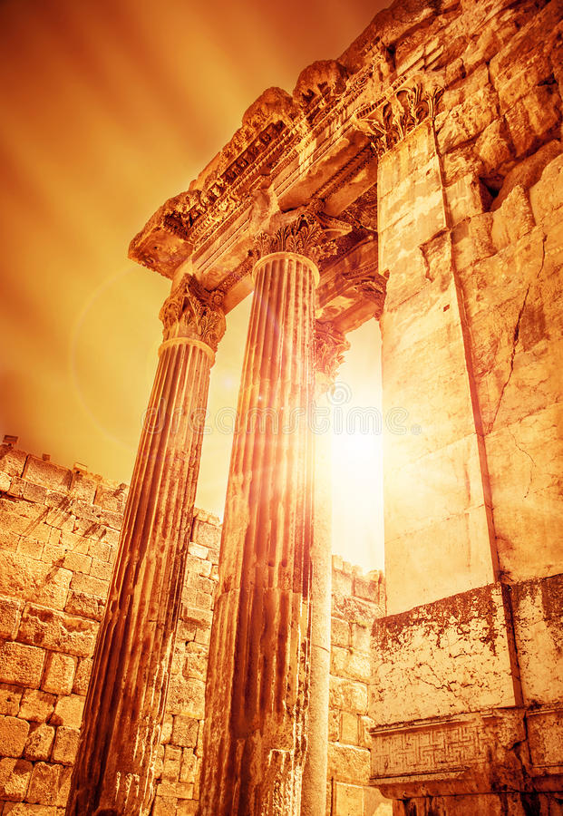 Free Temple Of Jupiter Ancient Roman City Stock Images - 30630574