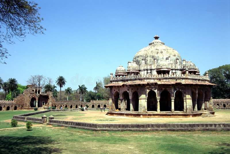 Temple in Old Delhi. An old temple near Red Fort in Old Delhi royalty free stock photography