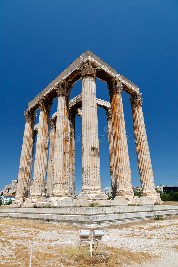 Download Temple of Olympian Zeus stock photo. Image of parthenon - 18982656