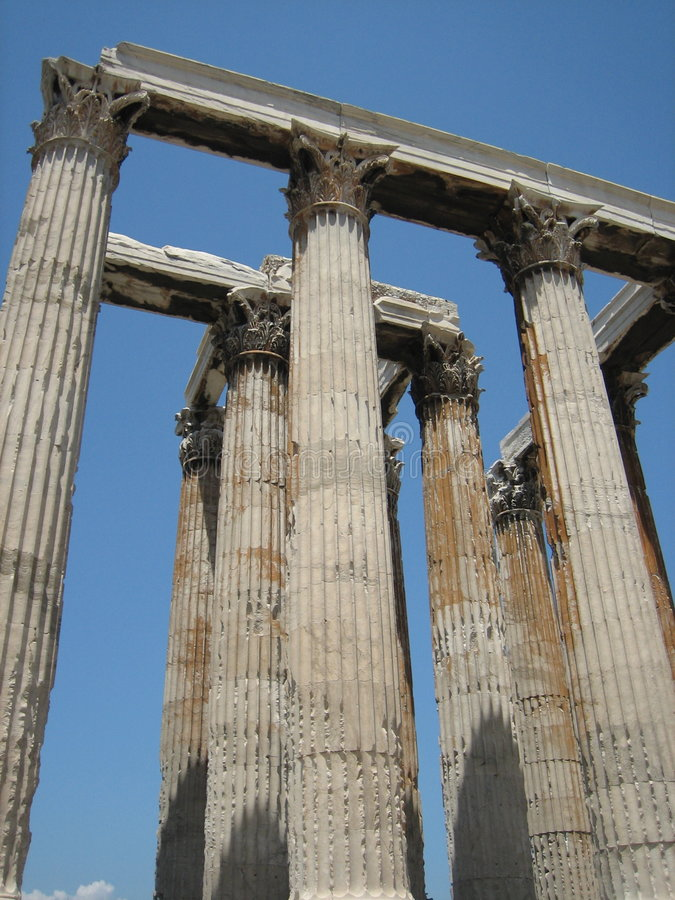 Download Temple of Olympian Zeus stock photo. Image of greece, white - 3234148