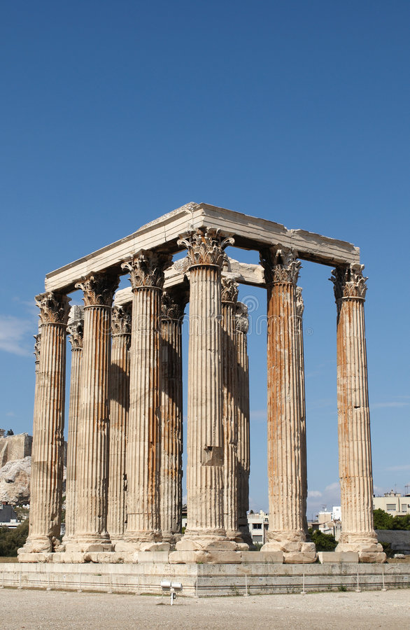 Download Temple of Olympian Zeus stock image. Image of temple, ancient - 6710839