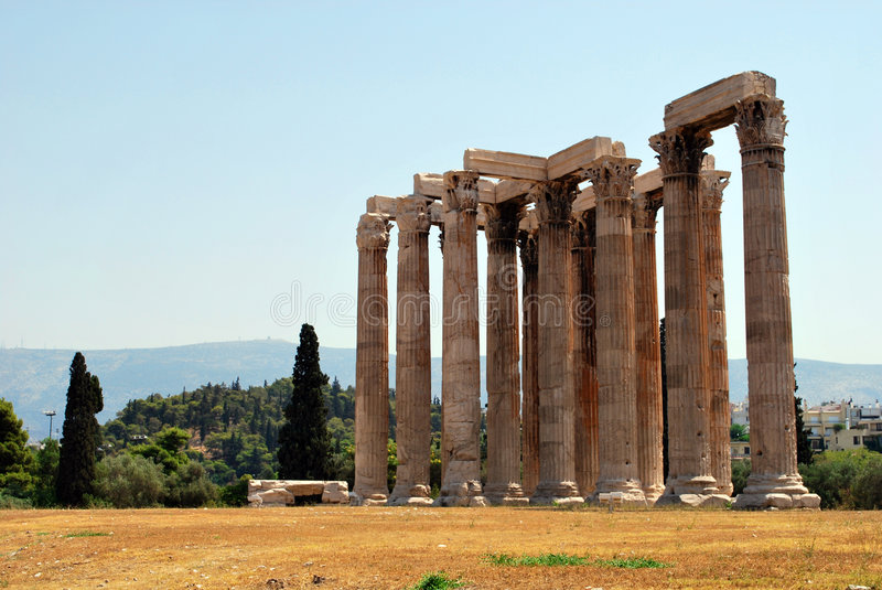 Download Temple of Olympian Zeus stock photo. Image of column, colonnade - 6853138