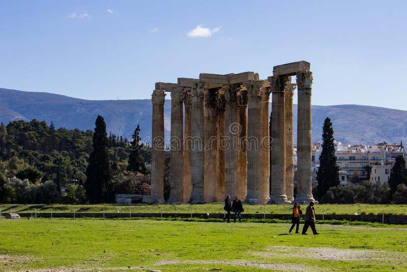 Temple of olympian Zeus stock photos