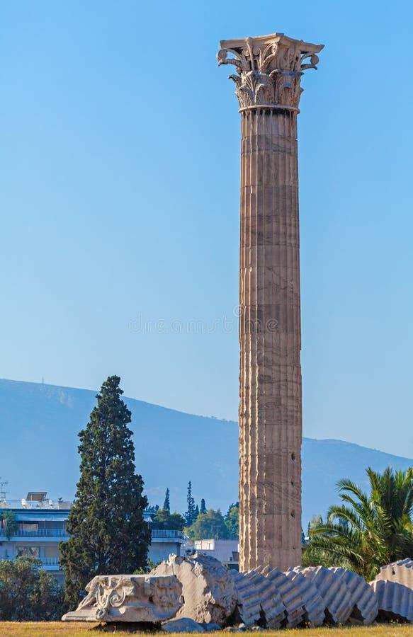 Temple of Olympian Zeus, Athens royalty free stock photo