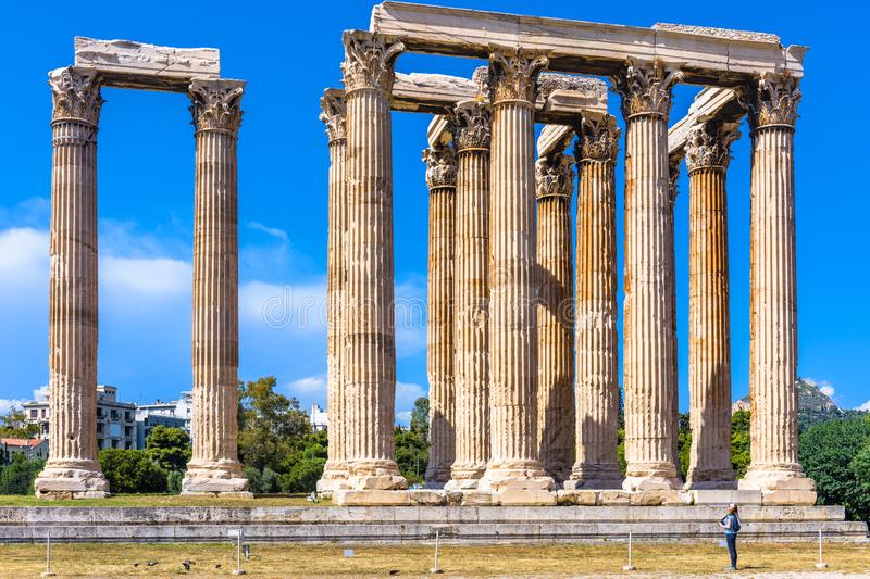 Temple of Olympian Zeus, Athens, Greece royalty free stock photos