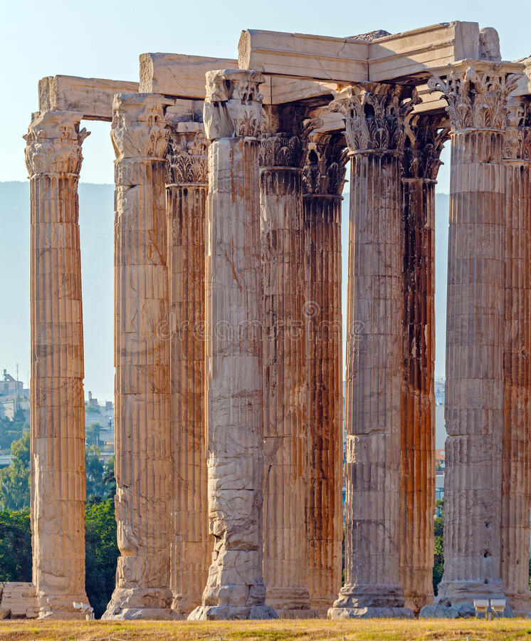 Temple of Olympian Zeus, Athens stock image