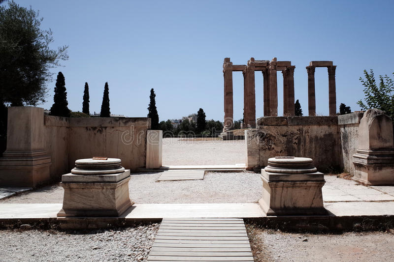 Temple of the Olympian Zeus stock image