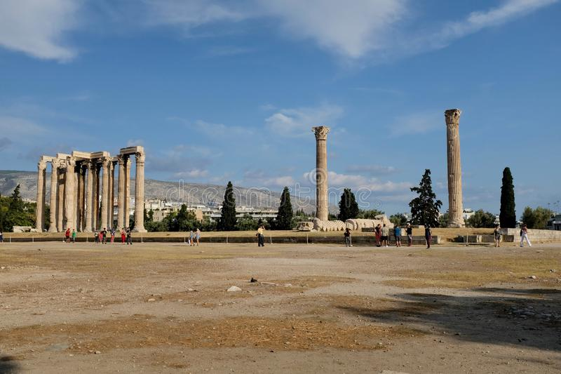 The Temple of Olympian Zeus stock images
