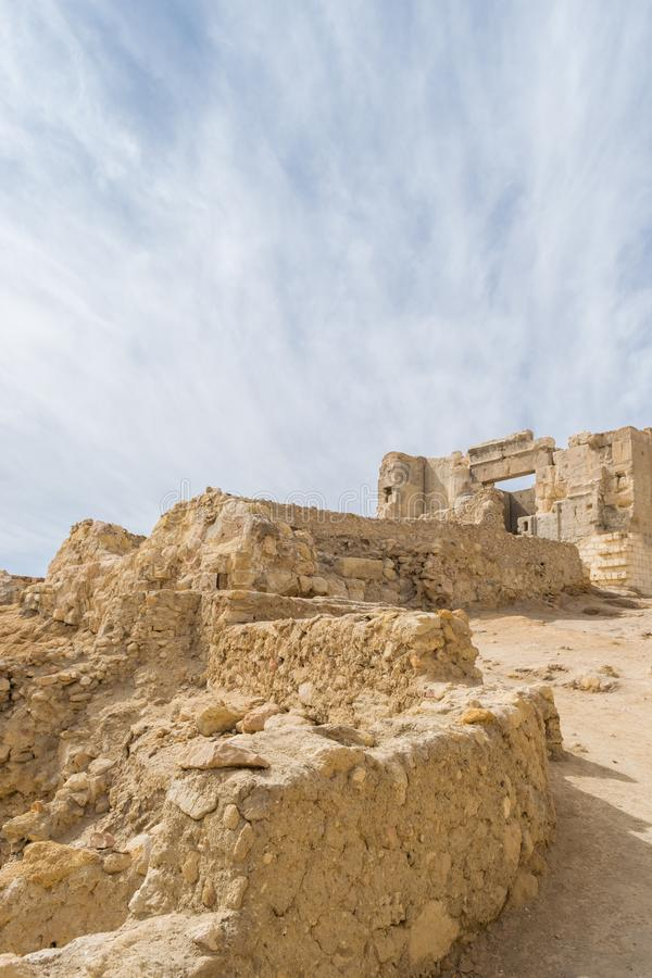 Temple of the Oracle of Amun in the old Town of Siwa oasis in Egypt.  stock photos