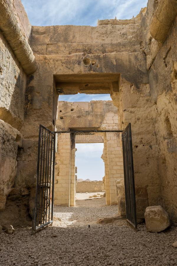 Temple of the Oracle of Amun in the old Town of Siwa oasis in Egypt.  stock images