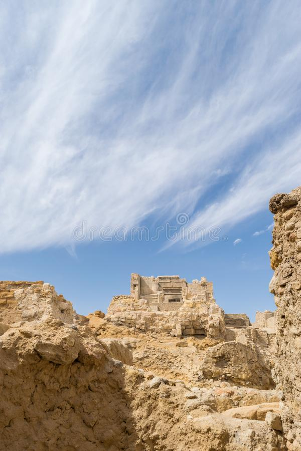 Temple of the Oracle of Amun in the old Town of Siwa oasis in Egypt.  royalty free stock image