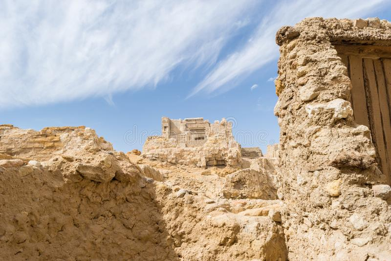 Temple of the Oracle of Amun in the old Town of Siwa oasis in Egypt.  royalty free stock photos