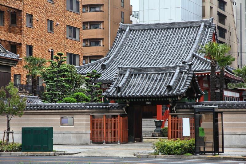 Temple in Osaka royalty free stock photos