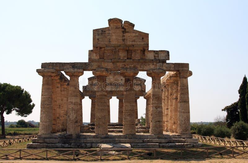 Temple paestum stock image