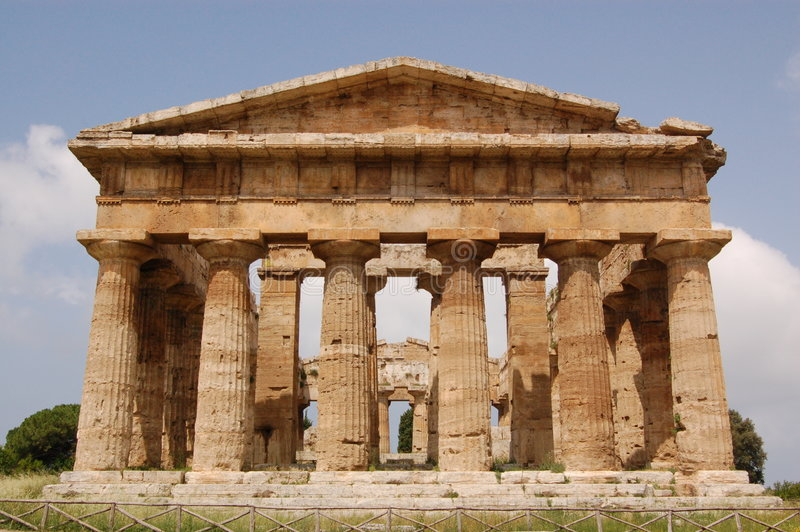 Temple, Paestum stock photo