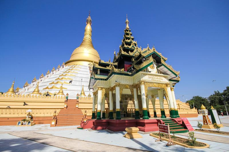 Temple and Pagoda in Bago, Myanmar. Beautiful and famous royalty free stock image